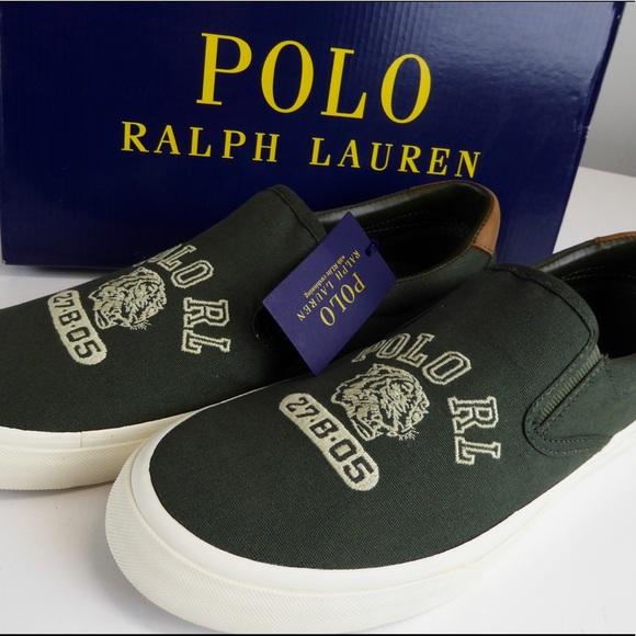 fb94c8bd Polo Ralph Lauren Thompson Slip On Canvas Sneakers NWT
